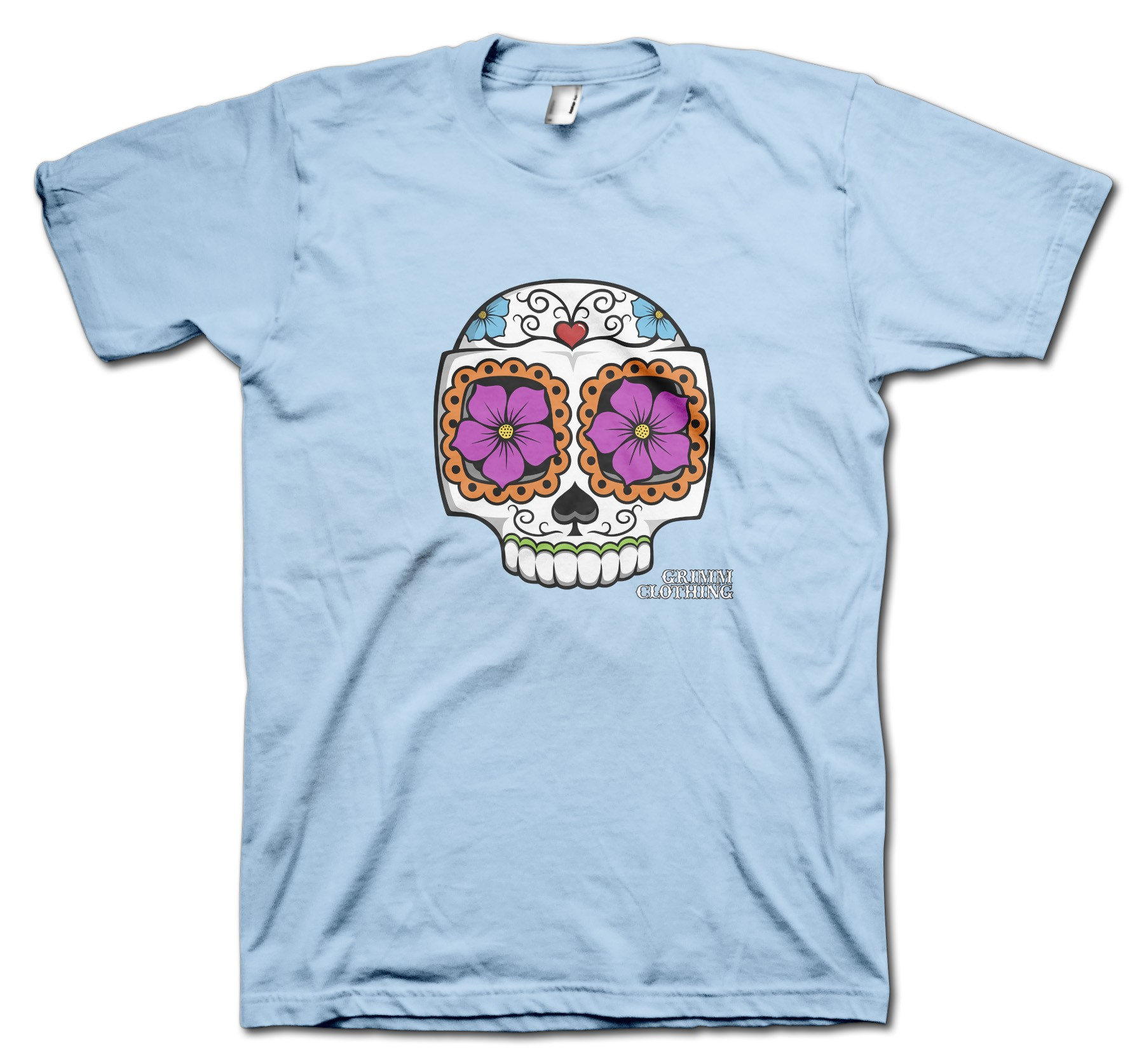 Catrina Calavera Carlos Moustache T-Shirt by Grimm Clothing