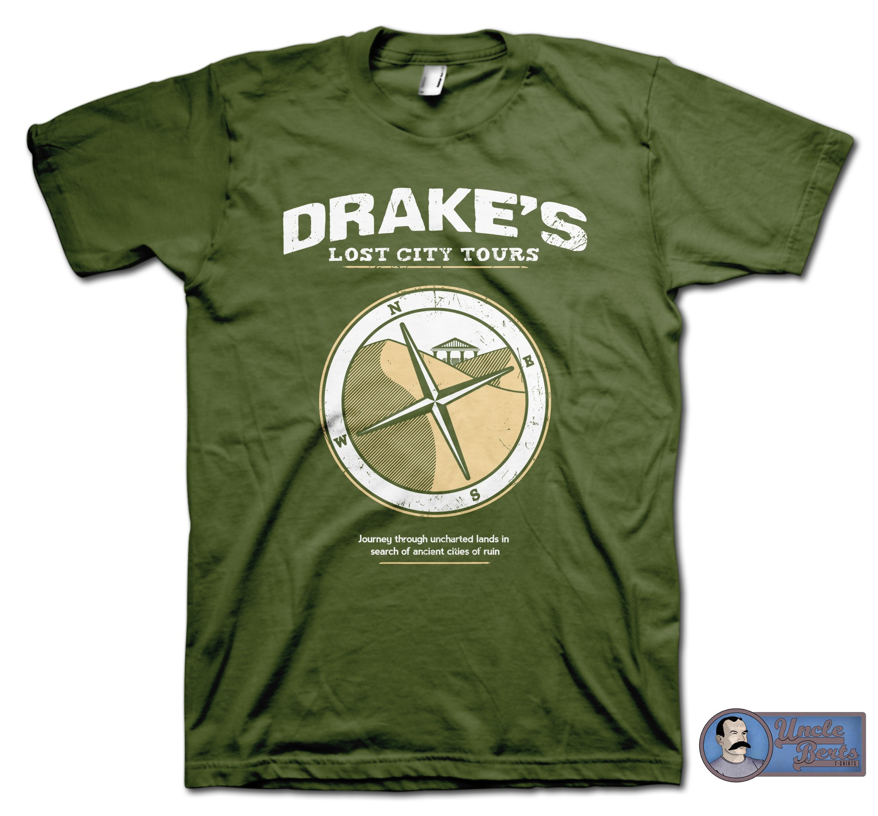 Drake's Lost City Tours T-Shirt - inspired by the Uncharted series