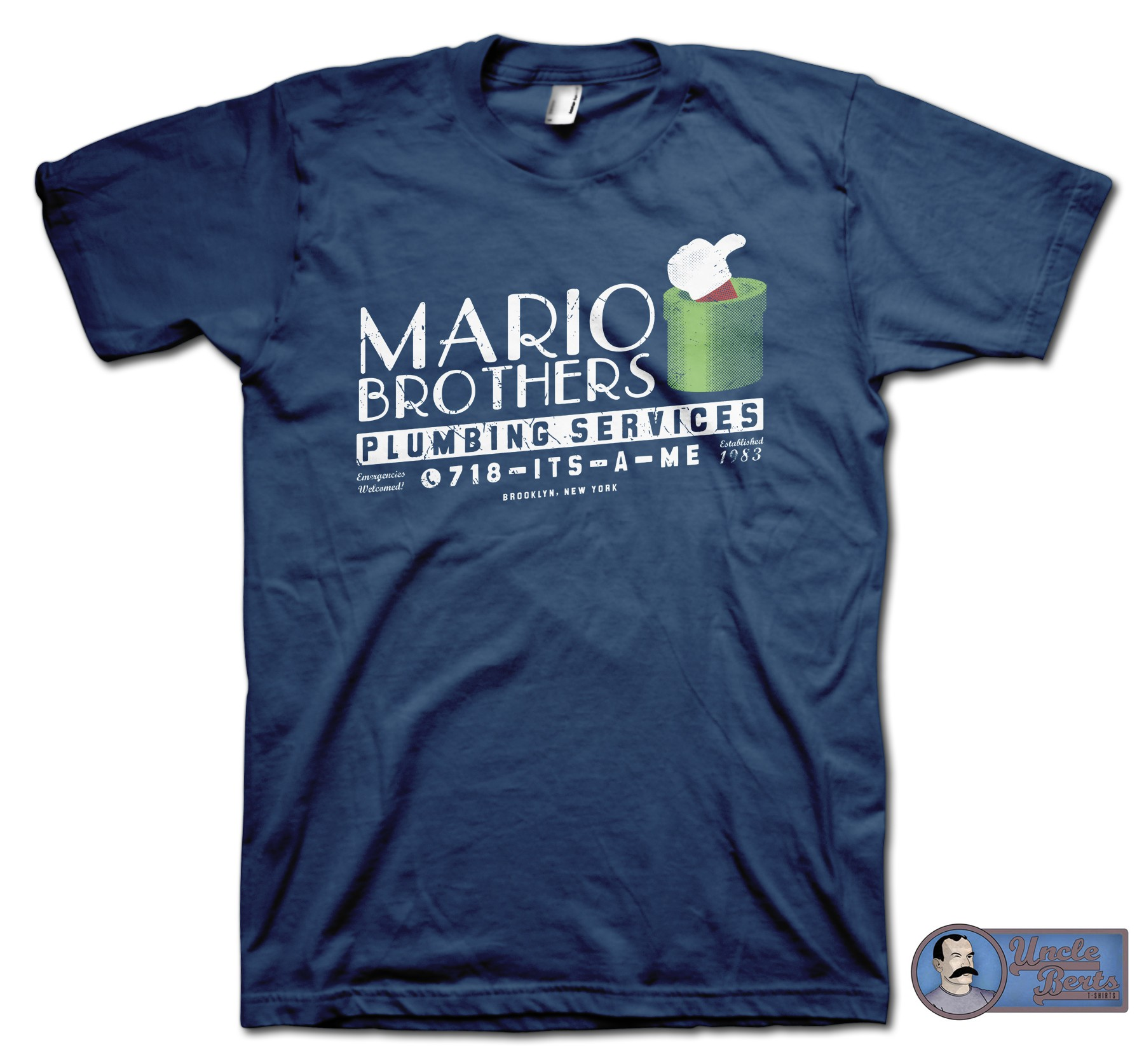 Mario Brothers Plumbing Services T-Shirt - inspired by the Mario series