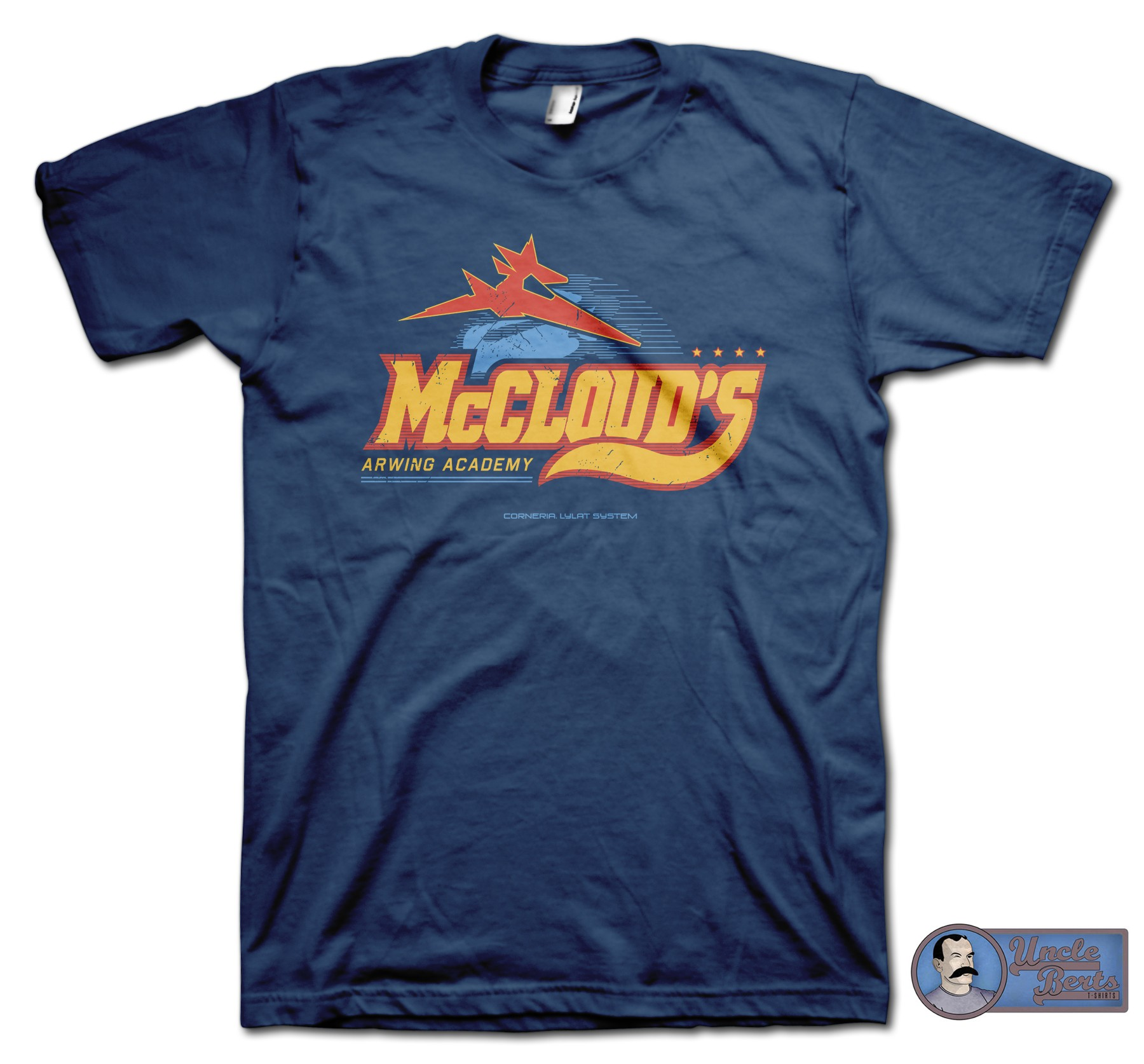 McCloud's Arwing Academy T-Shirt - inspired by the Star Fox series