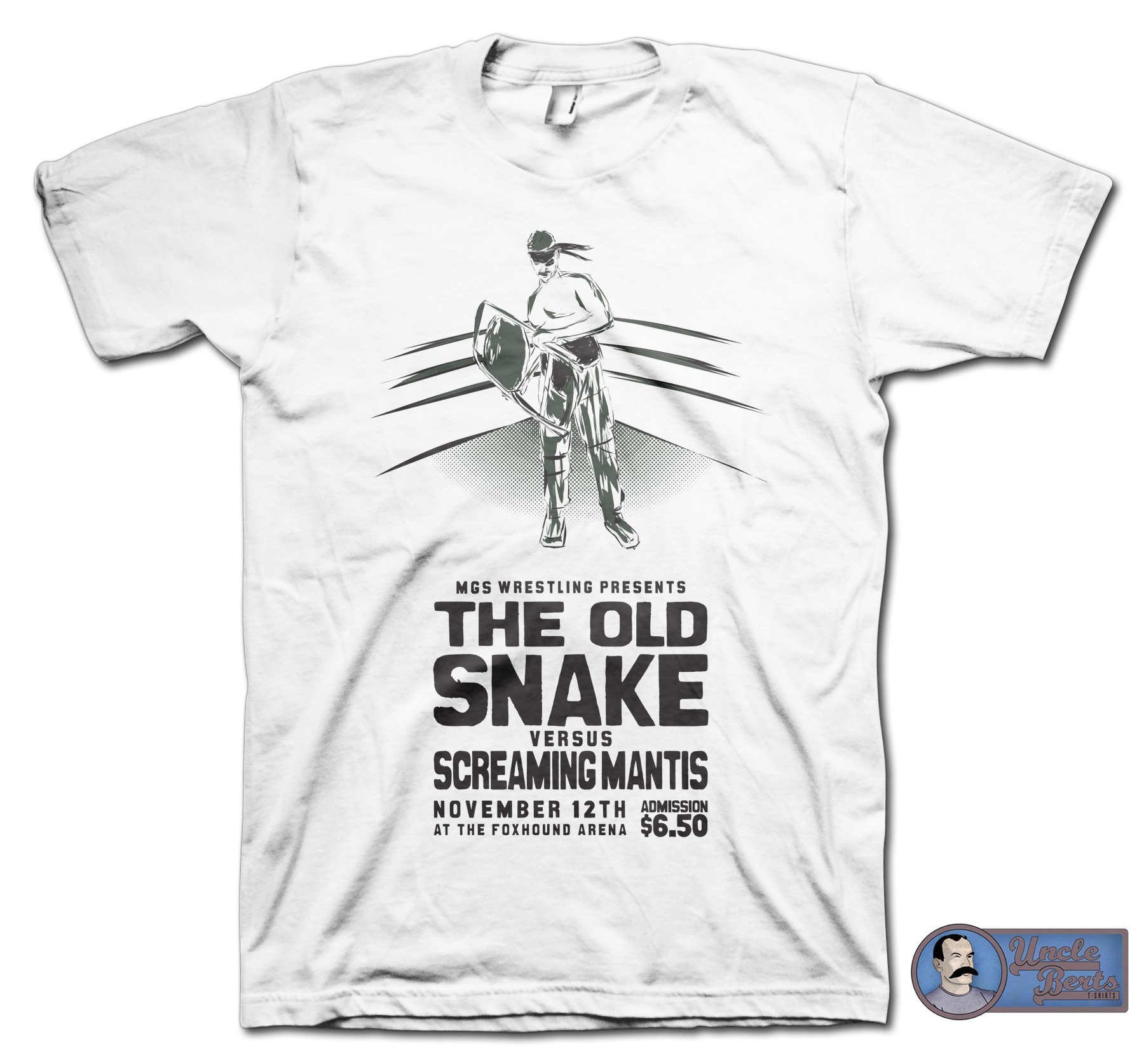 The Old Snake Versus T-Shirt - inspired by the Metal Gear Solid series