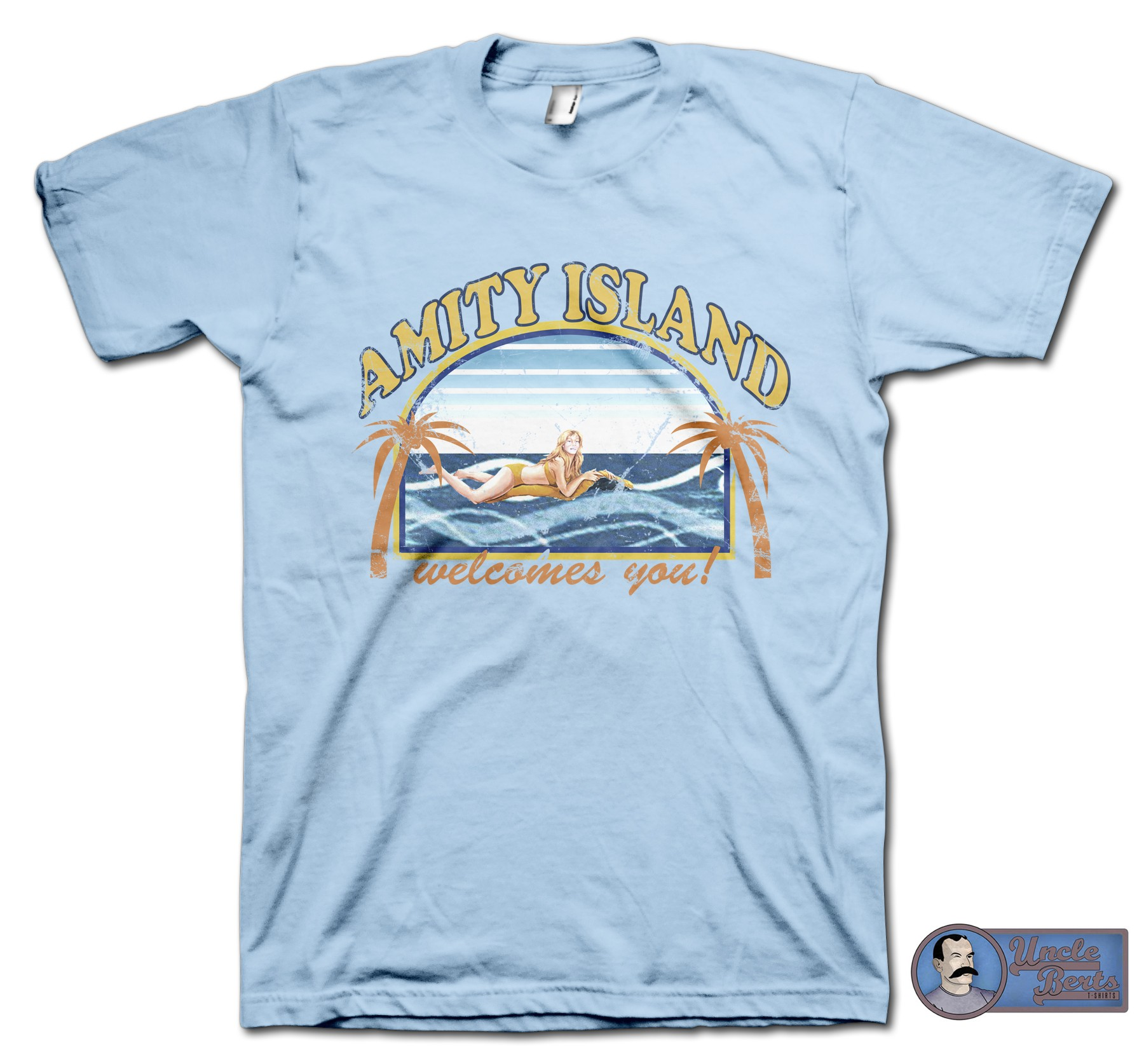 JAWS (1974) Inspired Amity Island T-Shirt