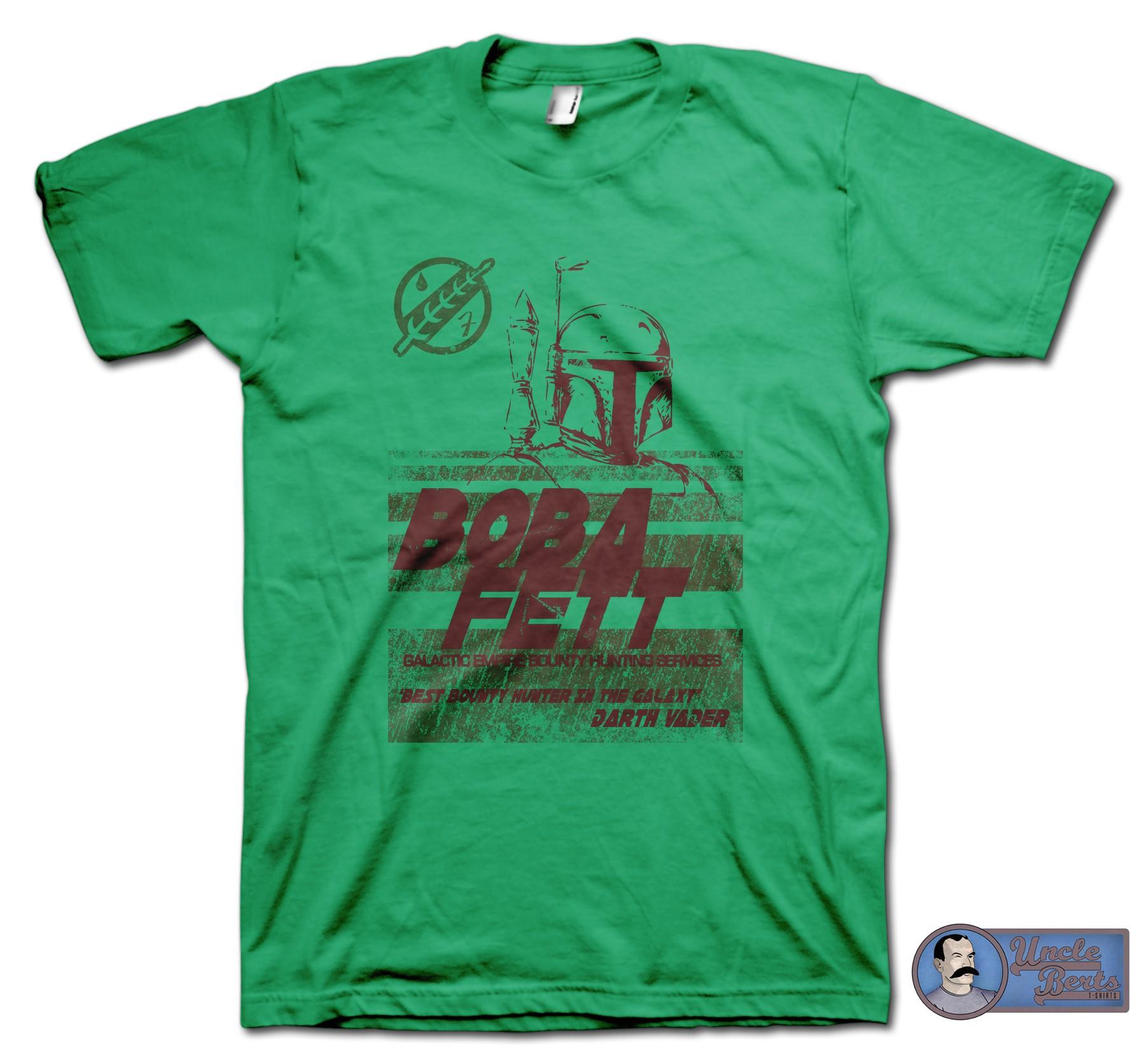 Star Wars: Episode V The Empire Strikes Back (1980) Inspired Boba Fett Bounty Hunter T-Shirt