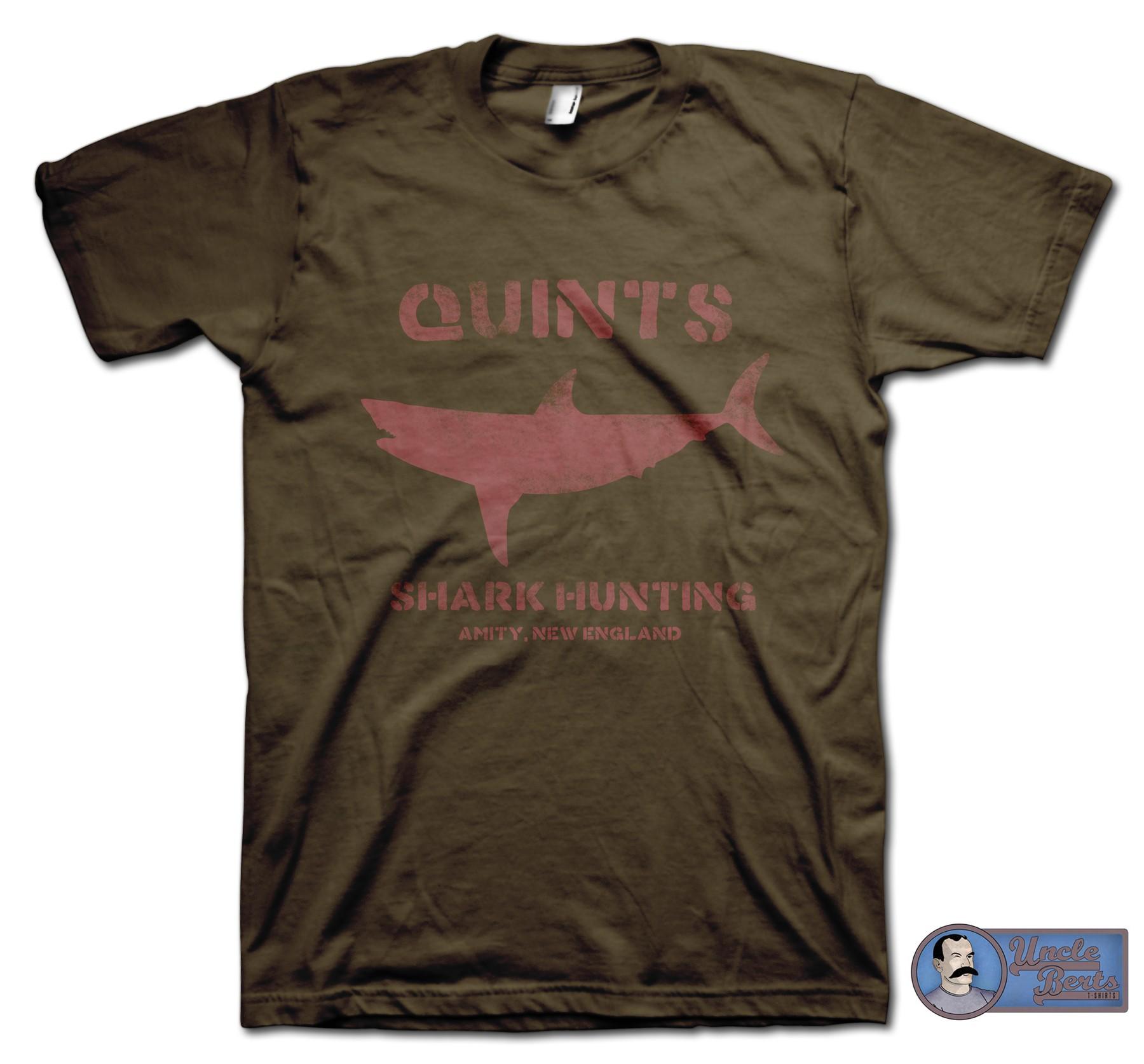 JAWS (1975) Inspired Quints Shark Hunting T-Shirt