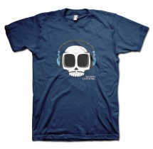 Headphones Carlos Moustache T-Shirt by Grimm Clothing