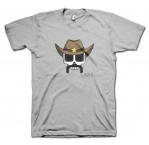 Cowboy Carlos Moustache T-Shirt by Grimm Clothing