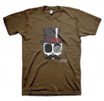 English Gent Carlos Moustache T-Shirt by Grimm Clothing