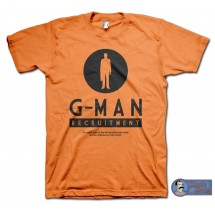 G-Man Recruitment T-Shirt - inspired by the Half Life series