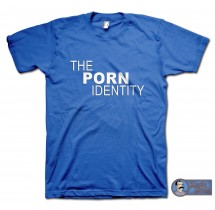 The Porn Identity T-shirt, adult movie parody, (S - 4XL)